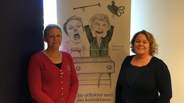 Malin Johansson, verksamhetschef på Attendo Gotlandsgatan och Annica Sahlgren, regionschef Attendo