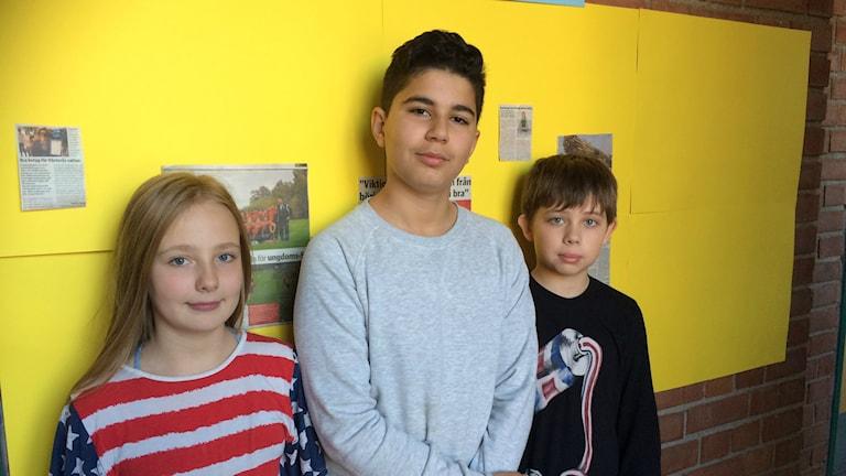 Marielle Winkler, Mujtaba Al Tayer och Simon Carlsson.