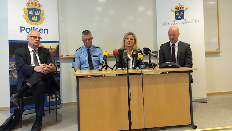 Presskonferens om Ikeamorden. / Foto: Jenny Rask. Sveriges Radio.