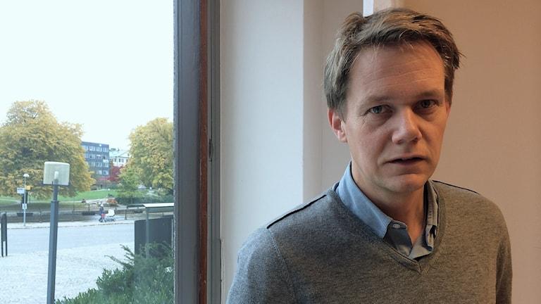 Johan Ahlström, riskingenjör på Västerås stad. Foto: Sofie Tejre/Sveriges Radio.