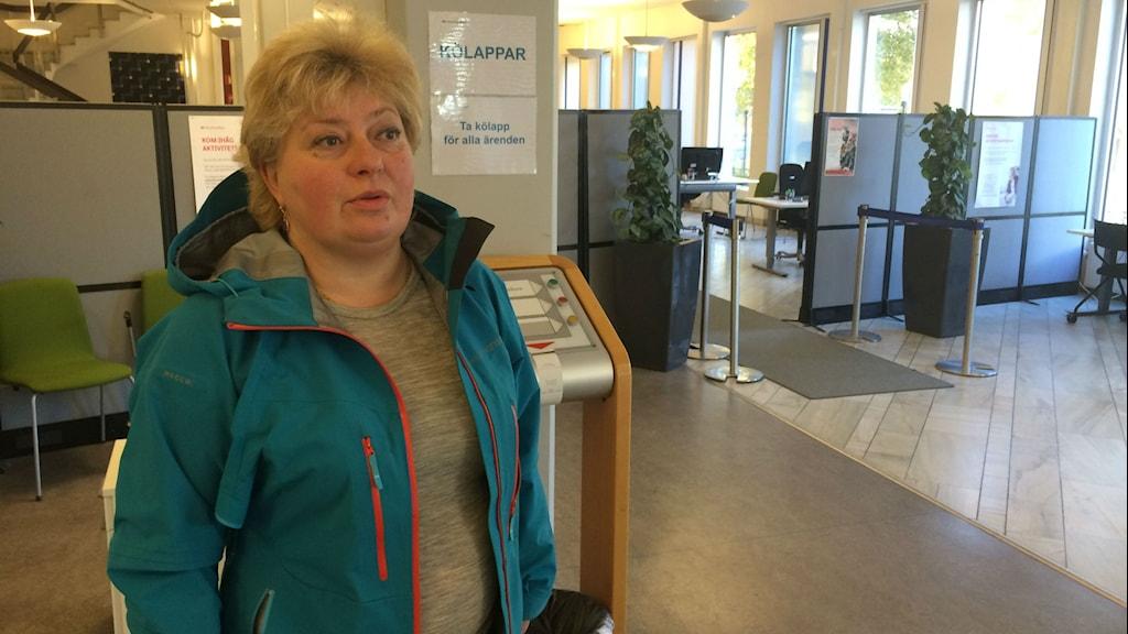 Danna Singborn, huvudskyddsombud Arbetsförmedlingen Västerås Foto: Liselotte Karlsson/Sveriges Radio