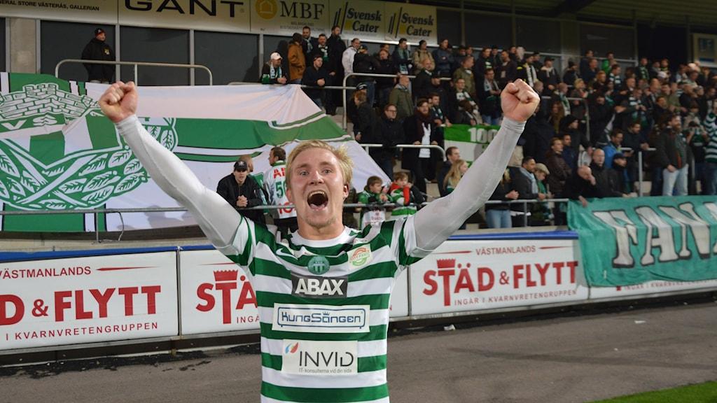 VSK Fotbolls Oliver Ekroth. Foto: Henrik Lundstedt/SR.