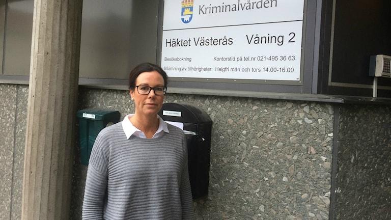Pernilla Vikström, häkteschef i Västerås. Foto:Terje Lund/Sverigesradio