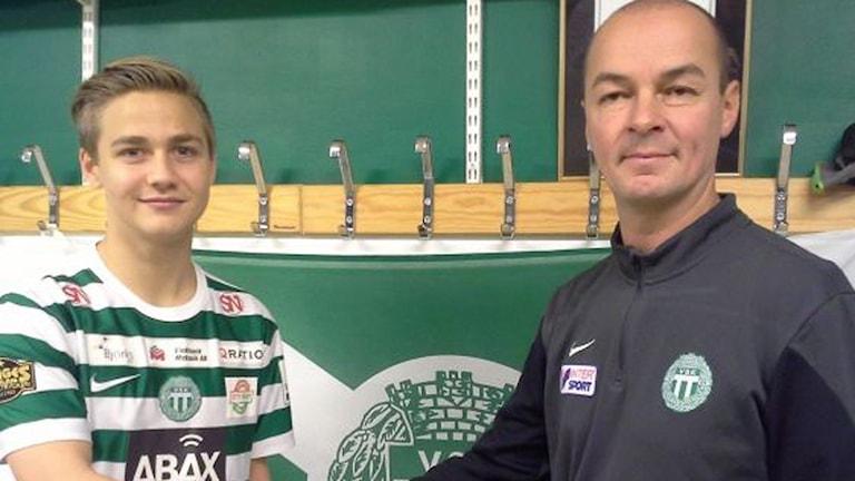 Dennis Persson och Leif Berg VSK Fotboll