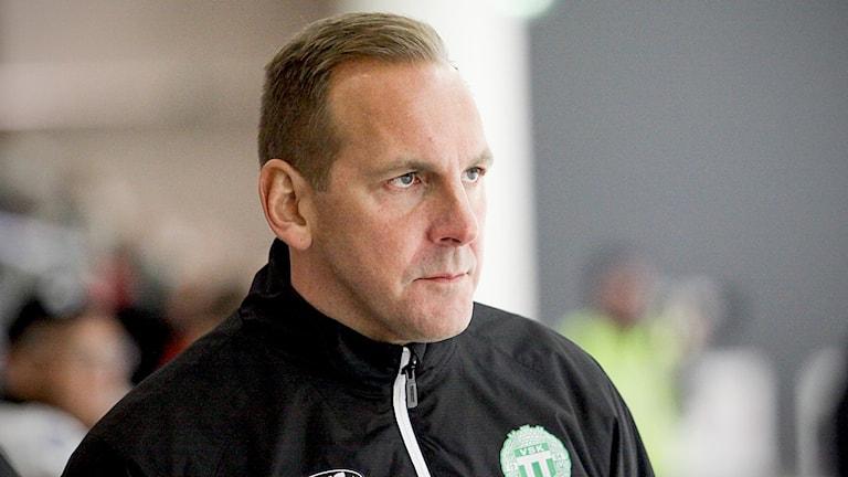Michael Carlsson, tränare VSK bandy vid mötet med Hammarby.