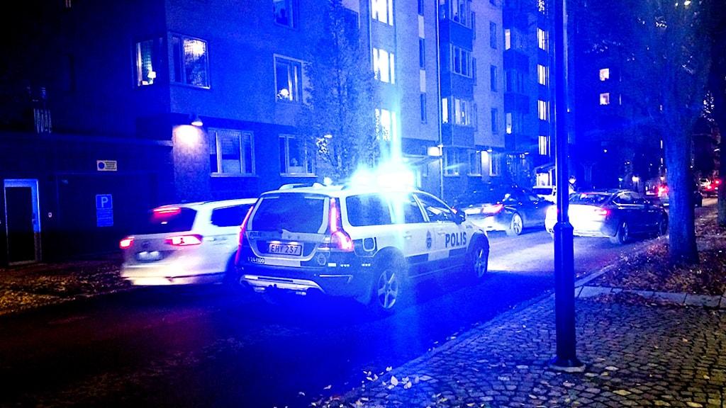 Polisinsats i centrala Västerås