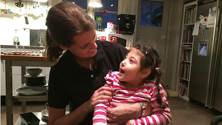 Maria med dottern Signe