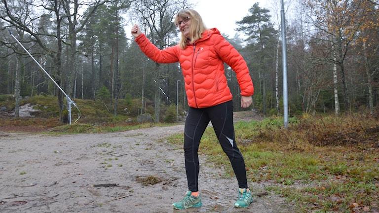 Karin Spets i Västerås skidklubb känner sig redo för ny skidsäsong. Foto: Jenny Rask/SR