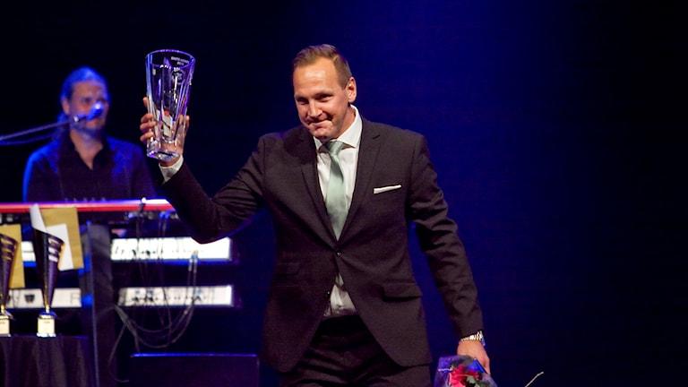 VSK Bandys Michael Carlsson blev utsedd till Årets tränare. Foto: Daniel Gustafsson/SR.