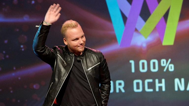 Victor och Natten. Foto: Jonas Ekströmer/Sveriges Radio.