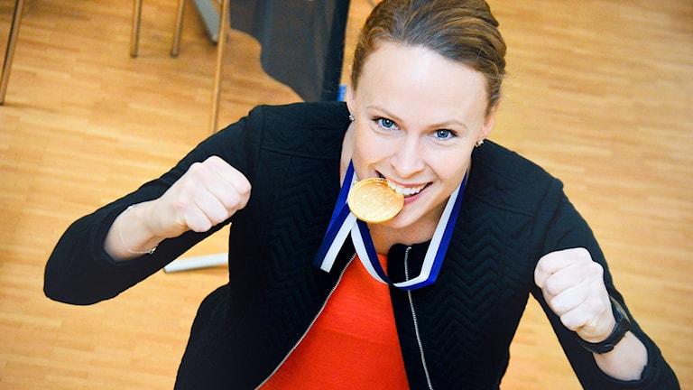 Sanna Scheer, Rönnby Tigers, innebandy, daminnebandy, VM-guld