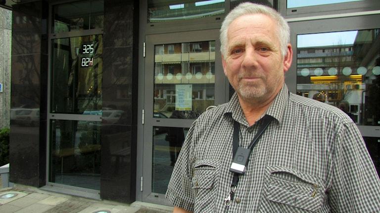 Torbjörn Möllberg, brottssamordnare vid polisen i Västmanland. Foto: Marcus Carlsson/Sveriges Radio.