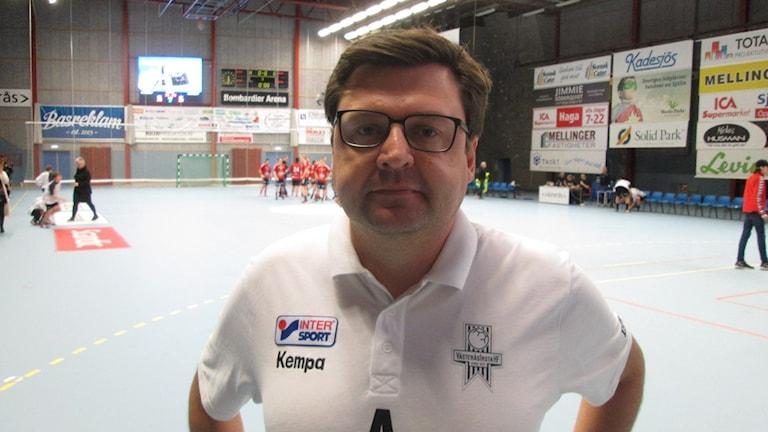 Andreas Jansson tränare VästeråsIrsta. Foto: Hans Sjöström/Sveriges Radio