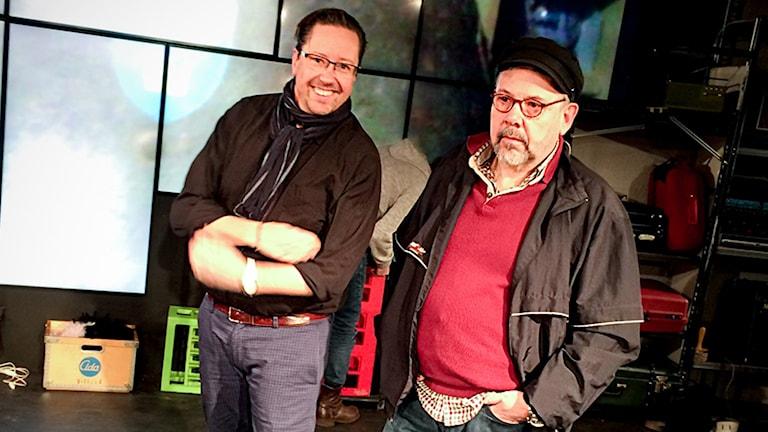 Björn Carlsson och Billy Nilsson. Foto: Daniel Gustafsson/Sveriges Radio.