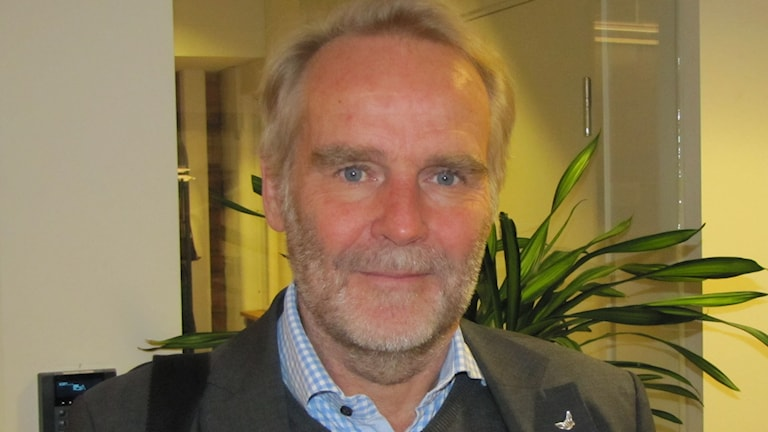 VIK Hockeys klubbdirektör Johan Fägerblad. Foto: Liselotte Karlsson/Sveriges Radio.
