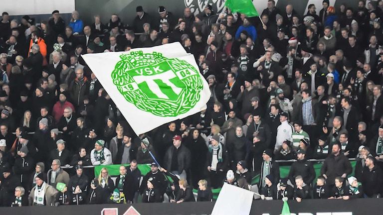 VSK Bandys supportrar. Foto: Stefan Lindgren.