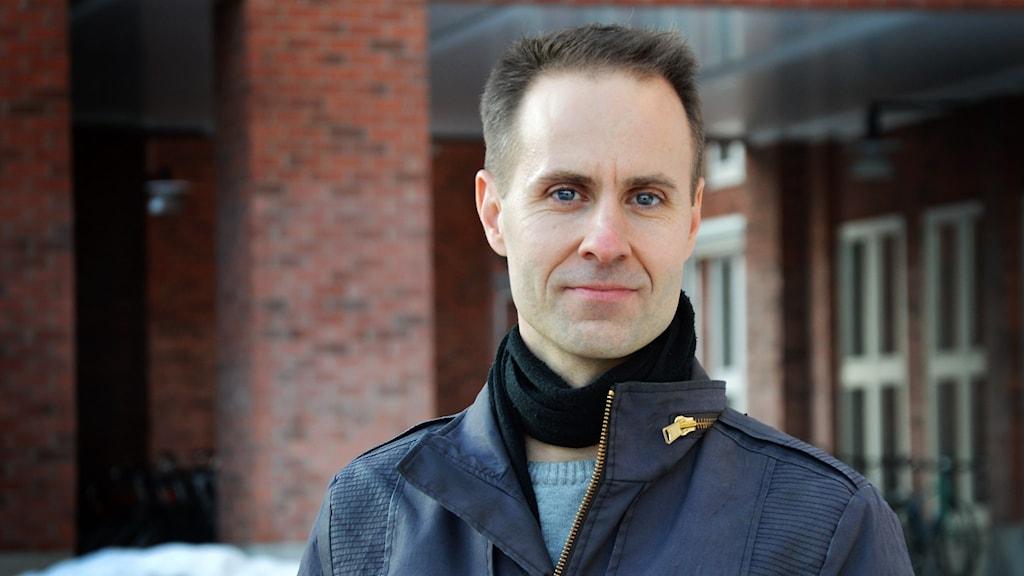 Martin Smedjeback, aktivist i aktiongruppen Tomma burar. Foto: Eva Kleppe/Sveriges Radio.