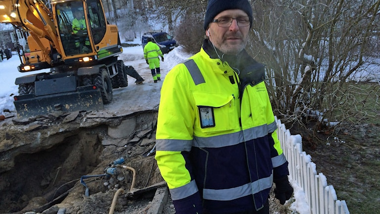 Arbetsledare Tomas Hahre på Köpings kommun. Foto: Liselotte Karlsson/Sveriges Radio.