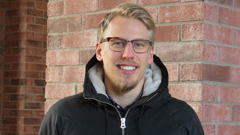 Oscar Uusitalo, idrottskonsulent på Västmanlands Idrottsförbund. Foto: Monica Elfström/Sveriges Radio.