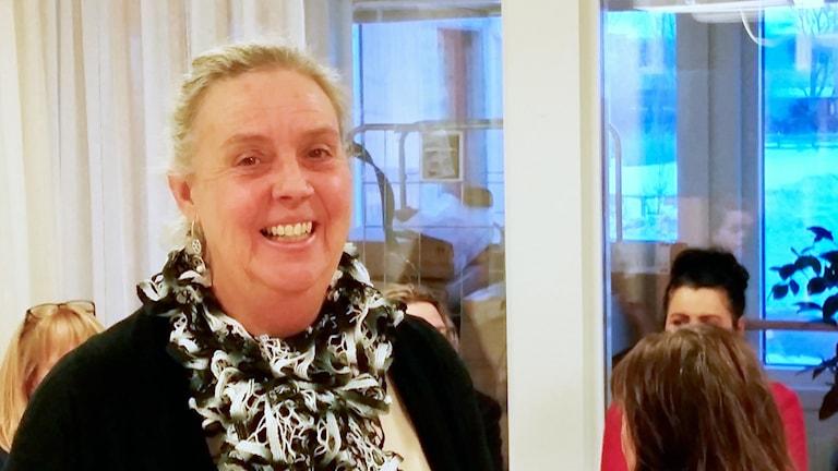 Maria Ruth, rektor på Integrationsskolan. / Foto: Ida Svansbo. Sveriges Radio.