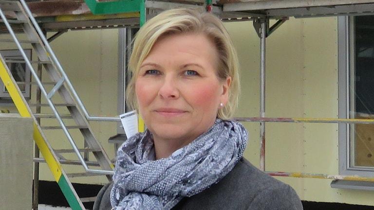 Anette Jansson kundcenterchef på Mimer i Västerås. Foto: Monica Elfström/Sveriges Radio.