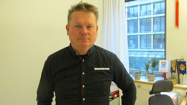 Staffan Jansson (S) kommunalråd i Västerås. Foto: Marcus Carlsson/Sveriges Radio