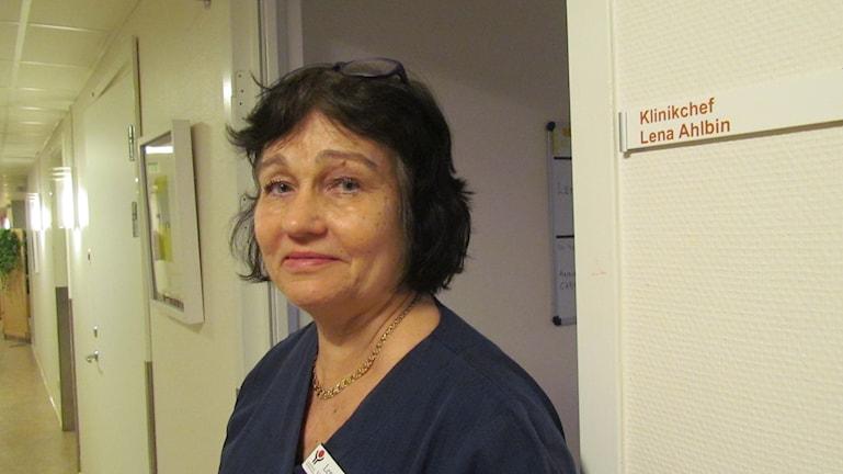 Lena Ahlbin. Foto: Inga Korsbäck/Sveriges Radio.