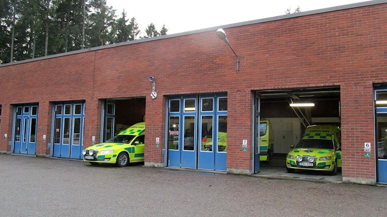 Västerås ambulansstation. Foto: Marcus Carlsson/Sveriges Radio