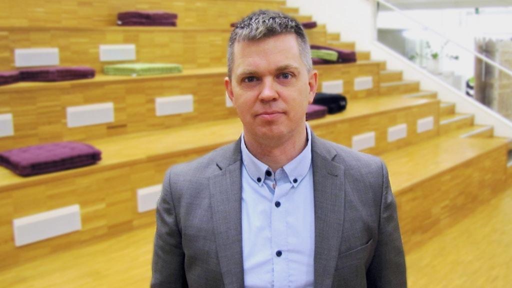 Lars Brånn - enhetschef på Migrationsverket i Västerås. Foto: Michael Gawell / SR.