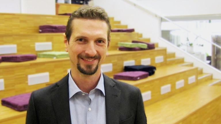 Joakim Sköldhammar från företaget Kulthammar. Foto: Michael Gawell. SR.