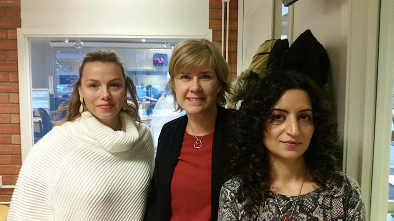 Maria Lindelöf från Invitationsdepartementet Västerås förmedlade kontakt mellan Pernilla Wester och Rehab Alsaidawi. Foto: Ida Svansbo/Sveriges Radio.