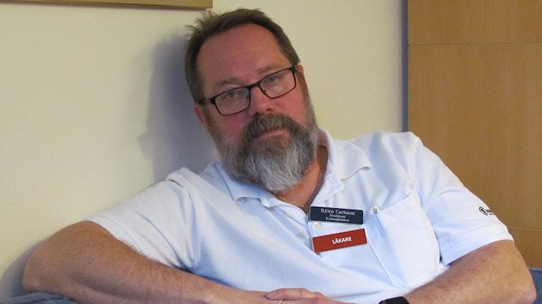 Björn Carlsson överläkare. Foto: Inga Korsbäck/Sveriges Radio.