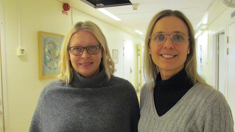 Lena Sars och Martina Ågren hygiensjuksköterskor.