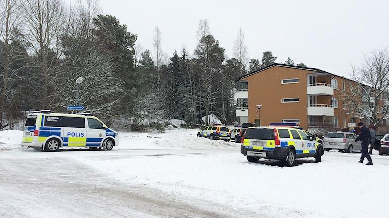 Polisinsats på Råby i Västerås.