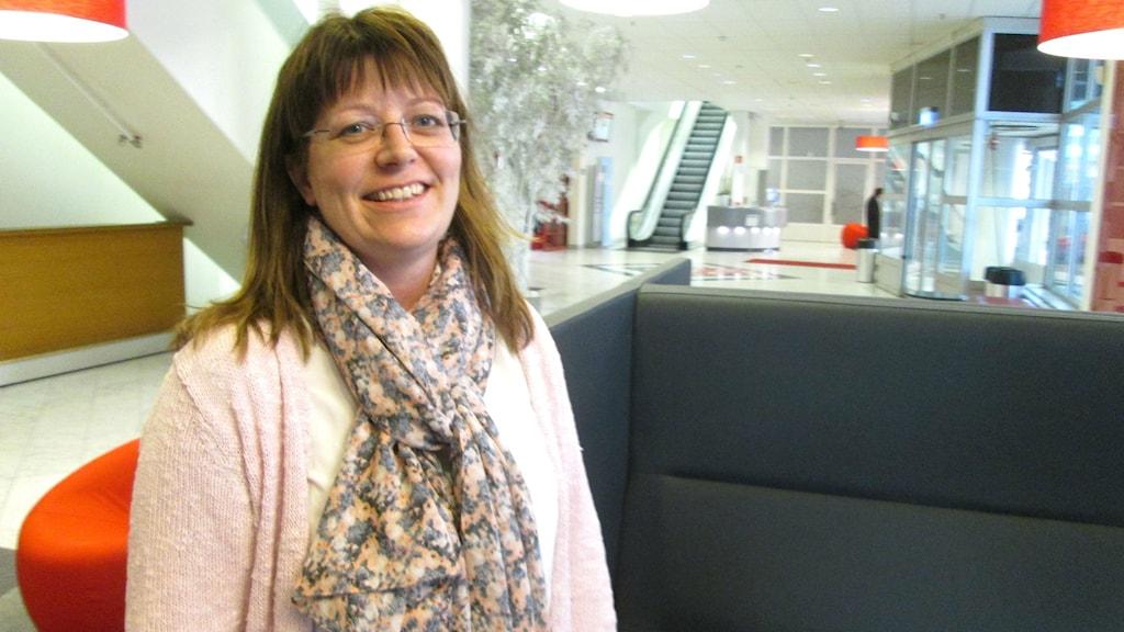 Vicki Skure Eriksson (C) ordförande i Västerås grundskolenämnd. Foto: Marcus Carlsson/Sveriges Radio.