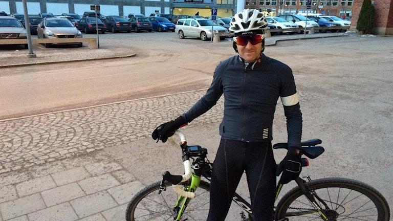 Cykelpendlaren Johan Lindkvist från Västerås.