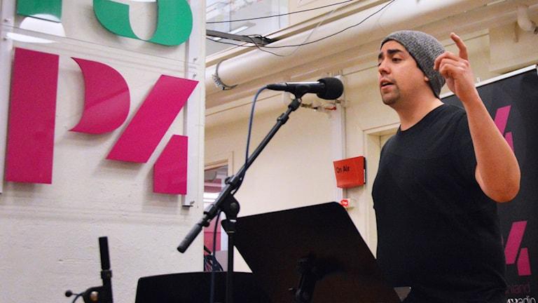 Daniel Molloy live på Radioscenen.
