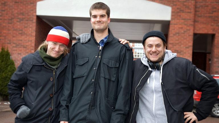 Walter, Andreas och Adrian som har Youtube-kanalen Dunderhumor.