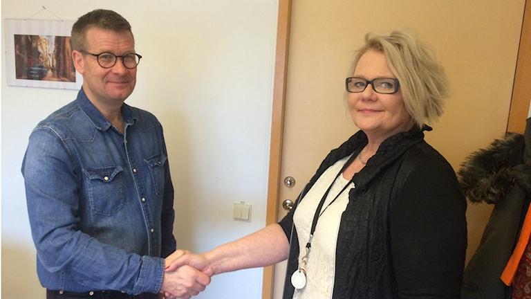 Torkel Freed och Marina Nilsson