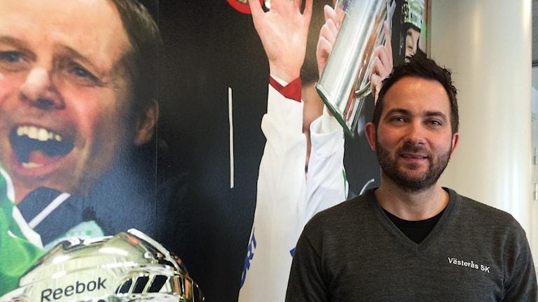 Michael Campese, klubbchef i VSK bandy.