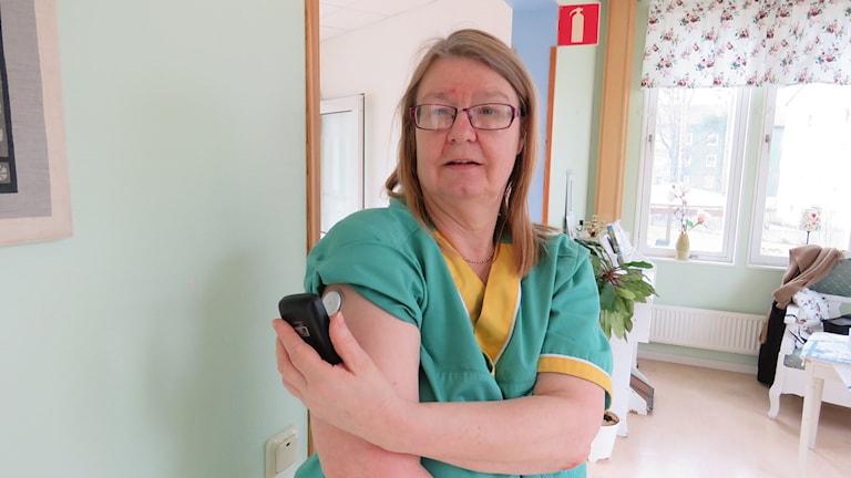 Eva Schiött, ordförande i Västmanlands läns Diabetesförening