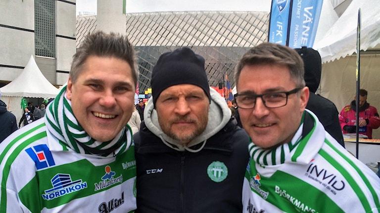 """VSK-legendarerna Andreas Westman, Pelle Fosshaug och Stefan """"Lillis"""" Jonsson är laddade inför finalen."""