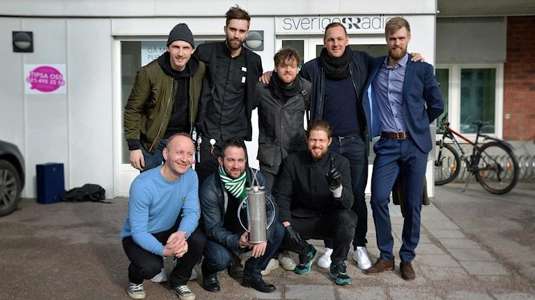 Några av guld-hjältarna i VSK Bandy.