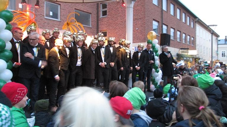 VSK Bandy hyllades på Sigmatorget