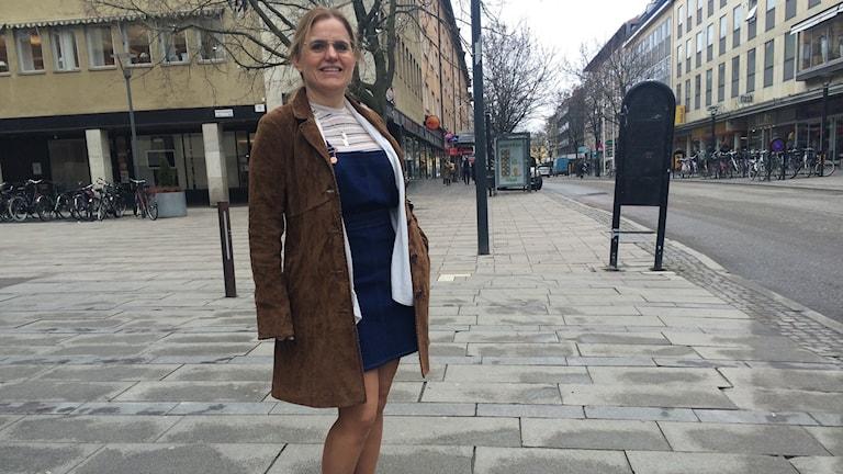 Vårklädd Marianne Olsson