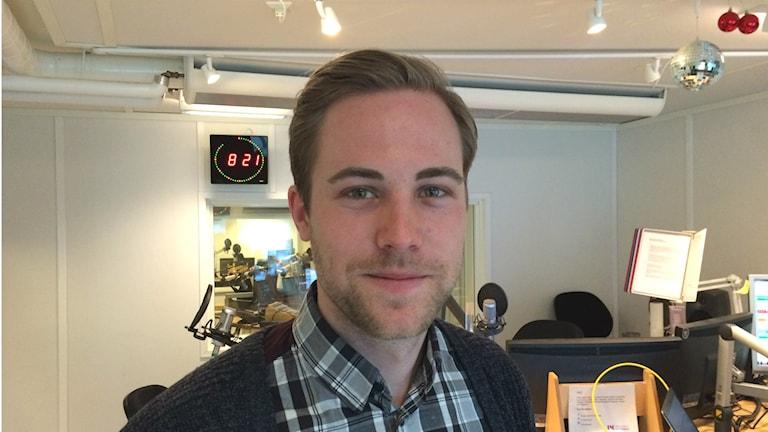William Palm, student på Civilingenjörprogrammet i robotik på Mälardalens högskola.