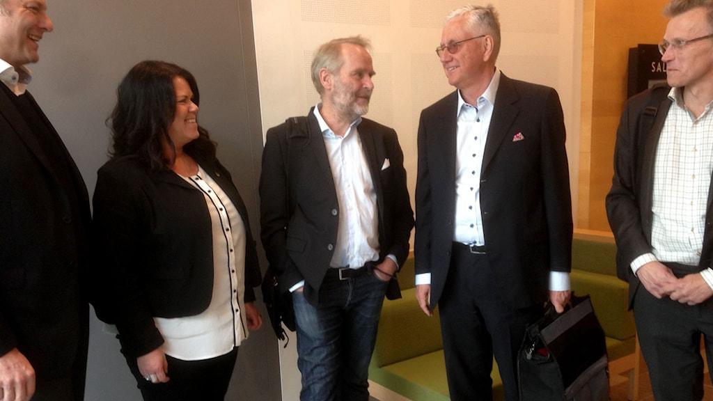 Camilla Törngren, Johan Fägerblad och Mats Emthén.
