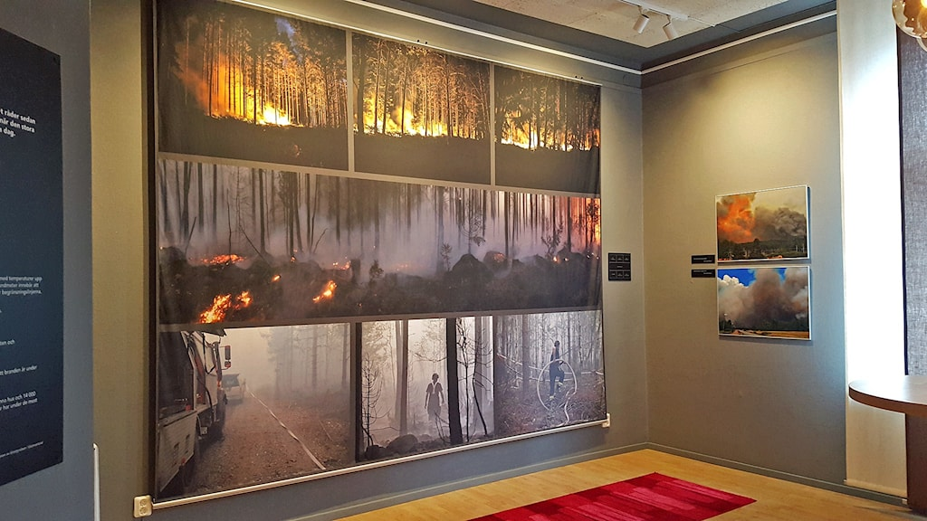 En del av utställningen Elden och Skogen i Ramnäs