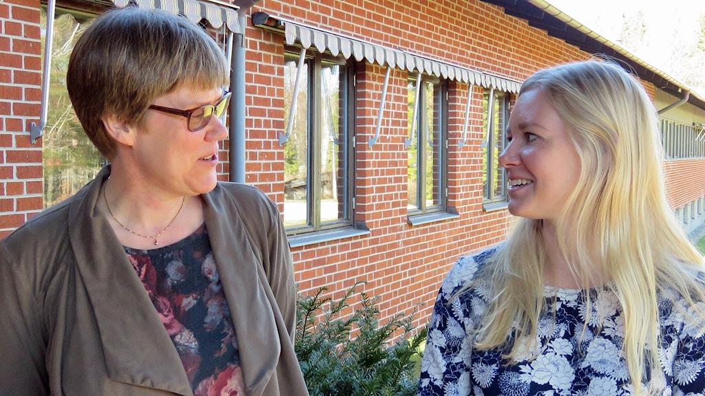 Susanne Lundberg och Anna Gustavsson jobbar inom socialtjänsten Arboga.