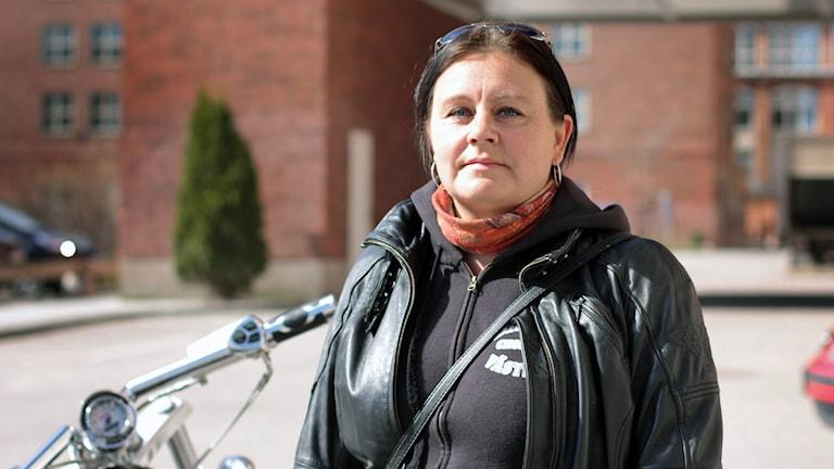 Solveig Nilsson, Västmanlandsordförande i Sveriges motorcyklister, SMC.